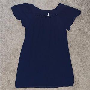 Halo Dresses - Halo navy blue A line dress (size M)